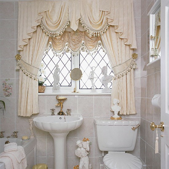 Modern bathroom window curtains ideas for Bathroom window curtains