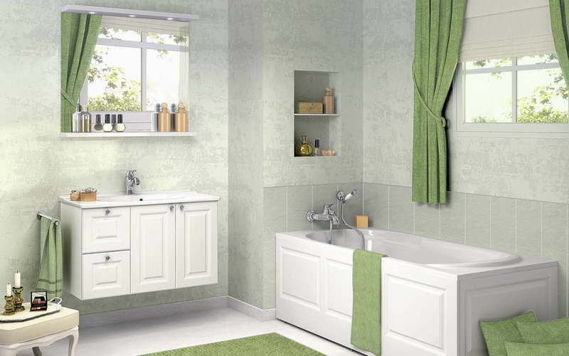Modern bathroom window curtains ideas for Window design colour