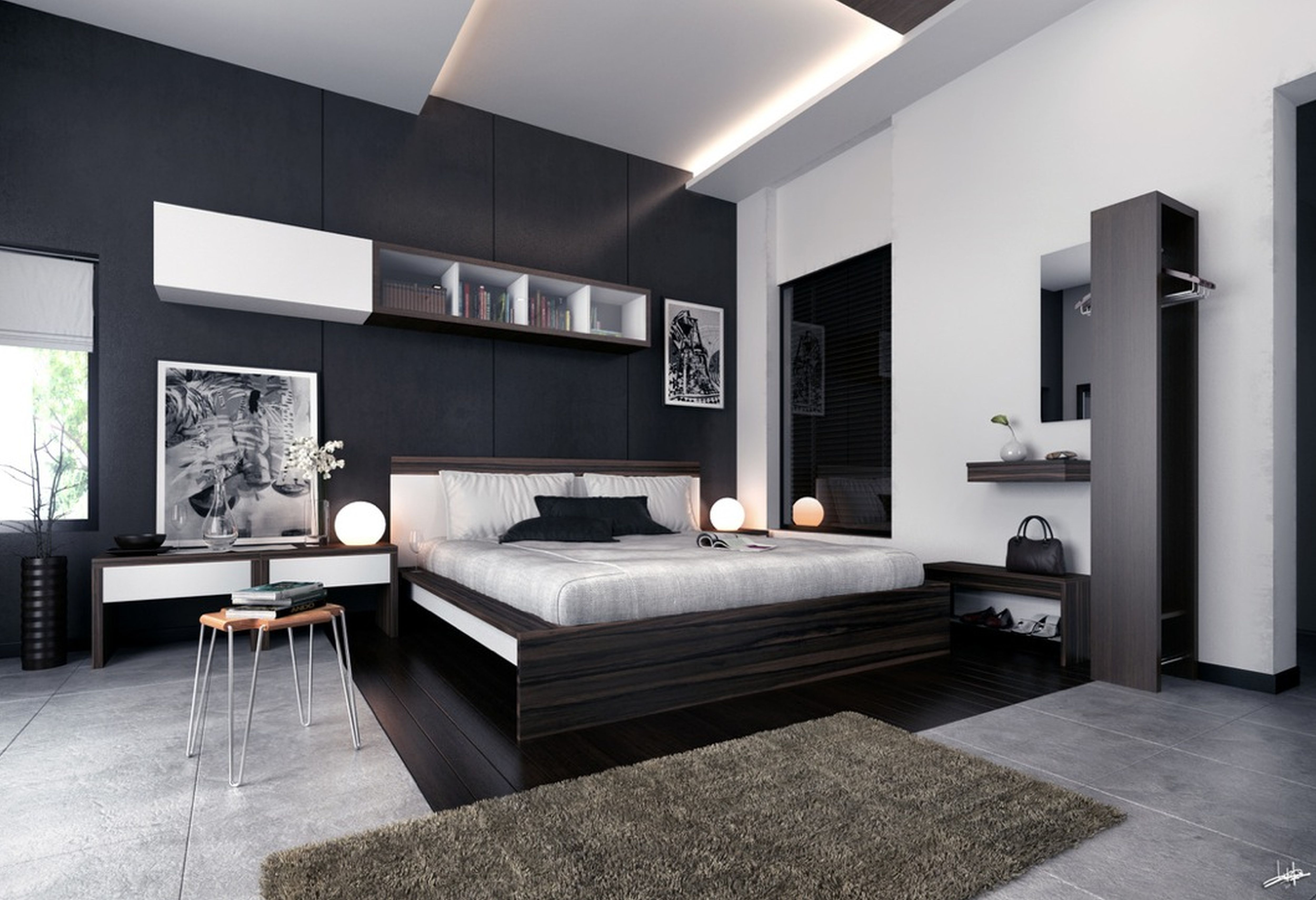 Bed Room Ideas With Black And White