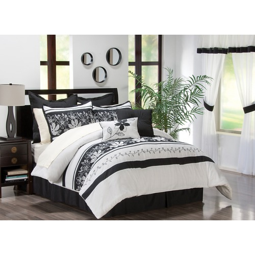 Modern black and white bedroom ideas for Black white and gray bedroom ideas
