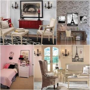 Classic paris room decoration