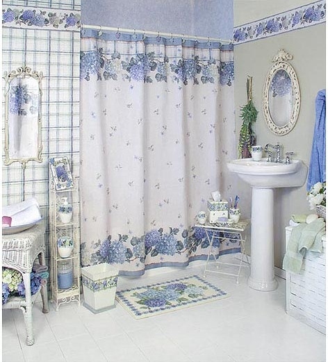Contemporary Bathroom Window Curtains