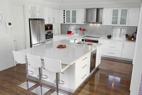 Kitchens with white cabinets for Kitchen design white