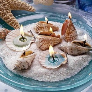 DIY easy shell candle craft