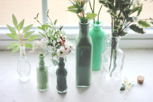 DIY glass bottle crafts