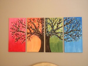 DIY home decor painting