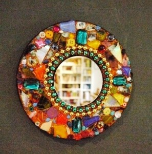 Diy beads mirror project