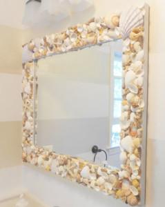 Diy mirror frames sea shellsDiy mirror frames sea shells