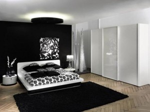 Easy Black and white bedroom ideas