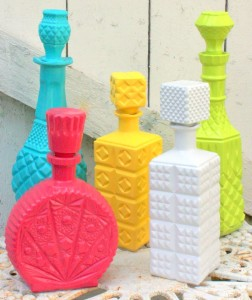 Easy DIY painting bottles