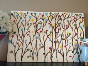 Easy canvas painting for home