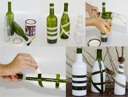Simple Glass Bottle Painting Designs