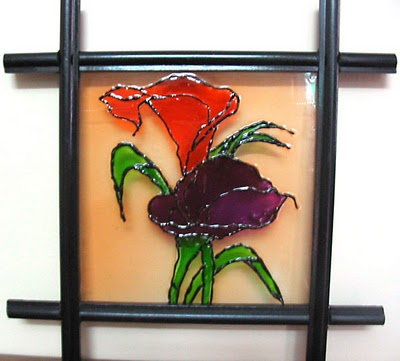 Superieur Floral Glass Painting Patterns