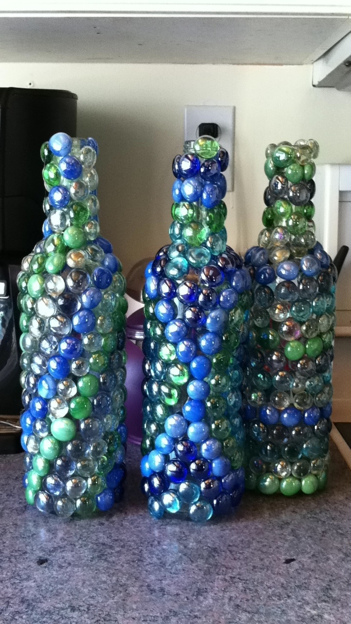glass bottle decorations ideas images