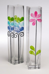 Glass painting for vase