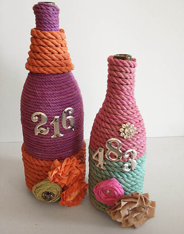 Diy glass bottle crafts ideas for Craft using waste bottles