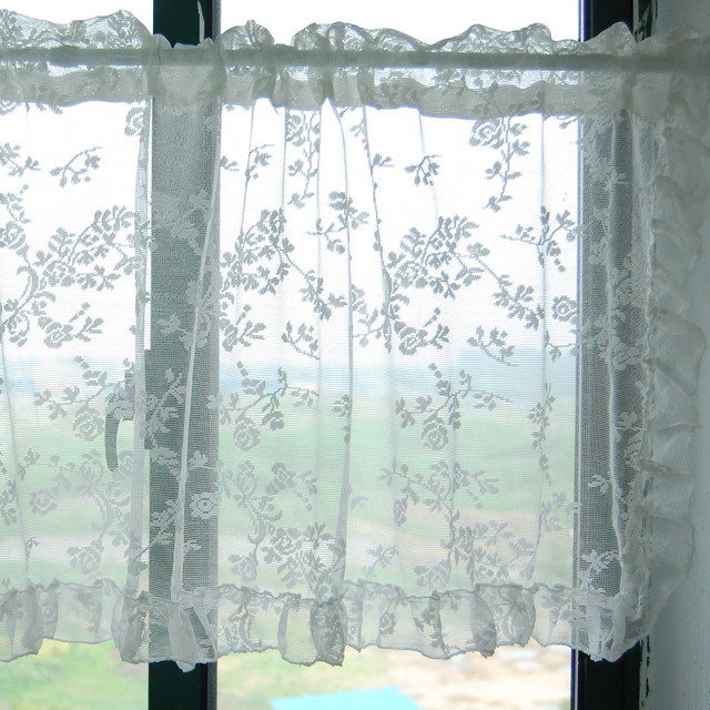 Printed curtains for bathroom windows