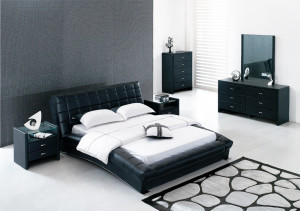 Modern black and white bed room ideas