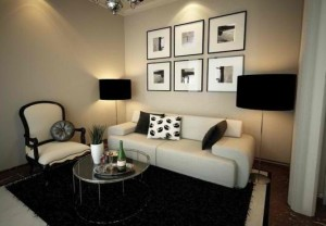 Modern decor for small living room