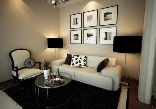 Modern decor for small spaces for Small apartment living room decor
