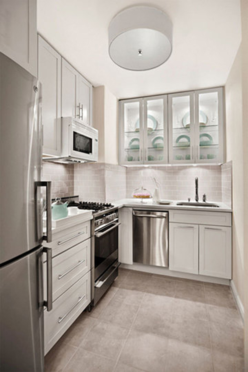 our useful tips and ideas will guide you to have small white kitchens ...
