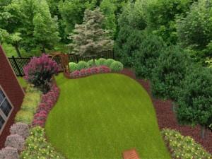Simple small front garden decor