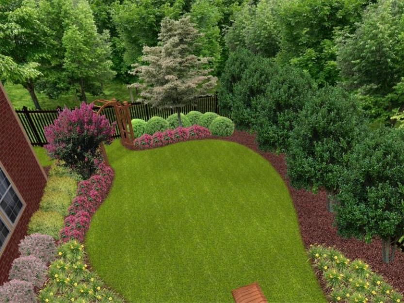 Small front garden ideas and arrangments for Backyard landscape design ideas