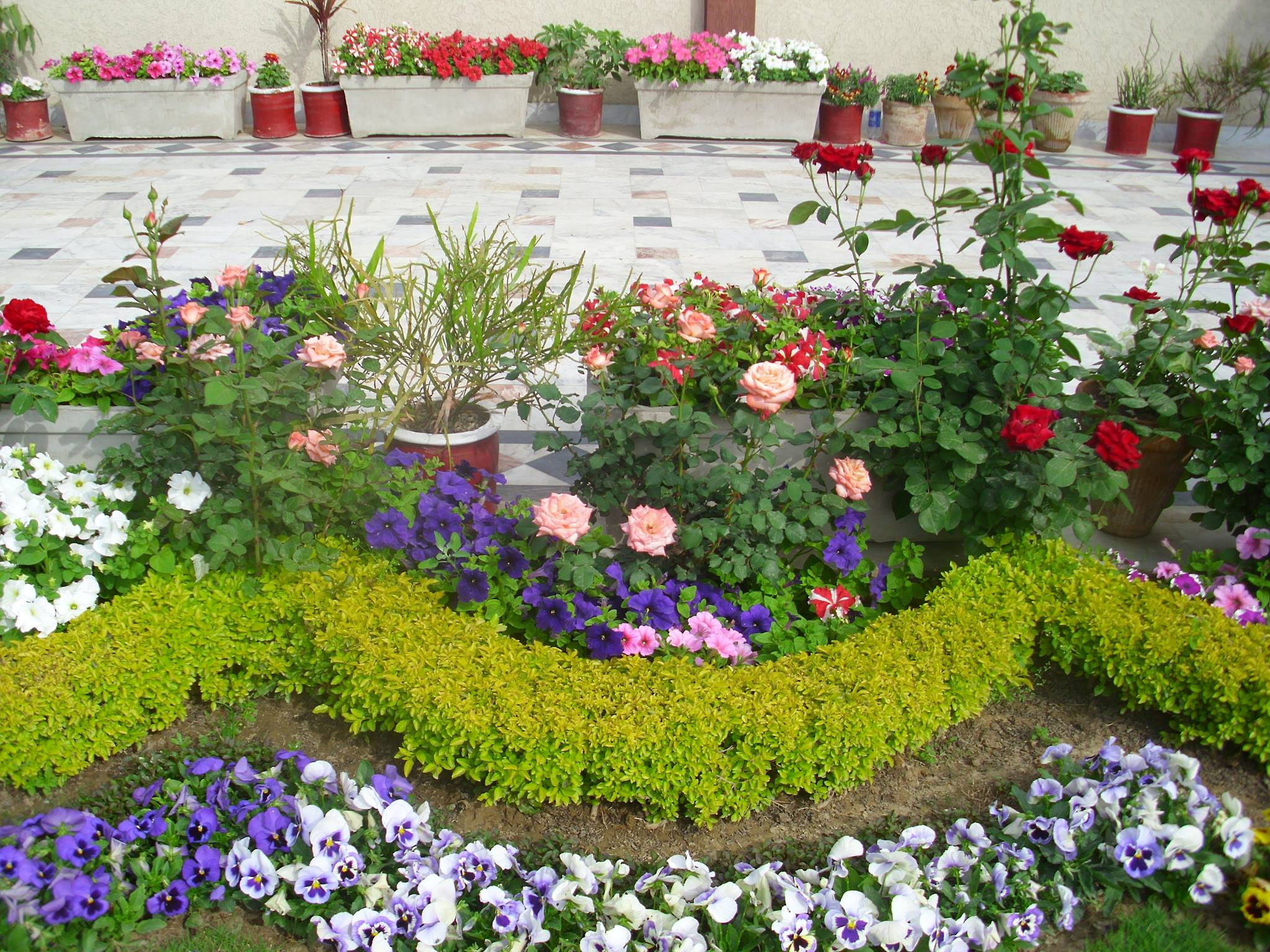Small front garden ideas and arrangments for Front flower garden ideas