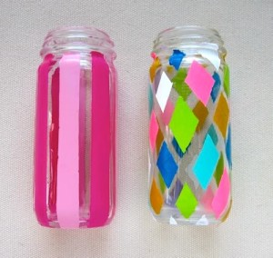Stylish DIY painting glass jars ideas