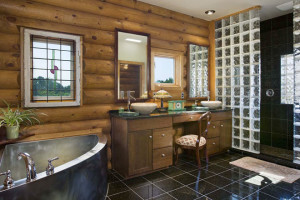 Stylish bathroom decor in western style
