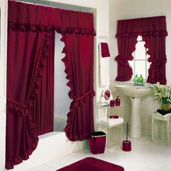 Stylish Bathroom Window Curtains