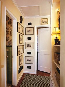 Stylish hallway decoration