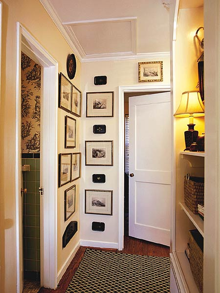 Small narrow hallway decorating ideas car interior design for Hallway wall decor