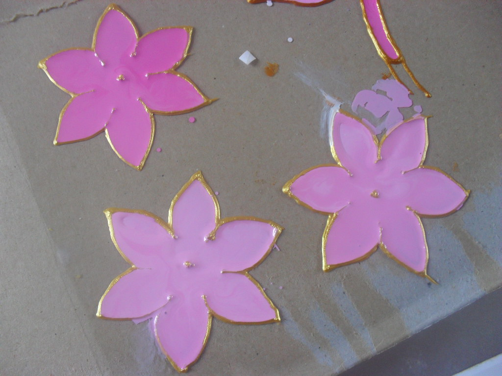 Diy glass painting patterns ideas for Simple flower paintings for beginners