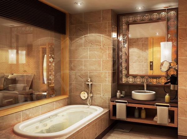 Western bathroom decor ideas for Modern style bathroom designs