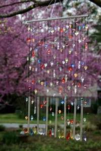 DIY beaded wind chimes