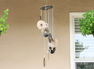 DIY cd wind chimes