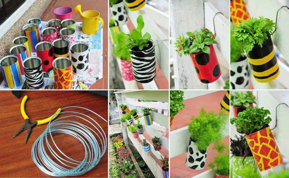 DIY flowering pots. Innovative DIY Garden Containers For Spring And Summer