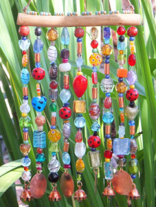 DIY wind chimes for garden