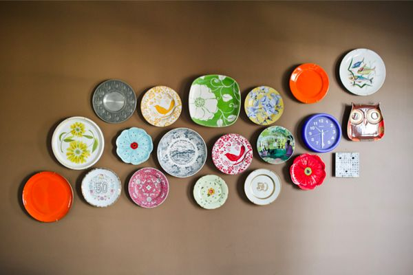 Wall Decor With Decorative Plates