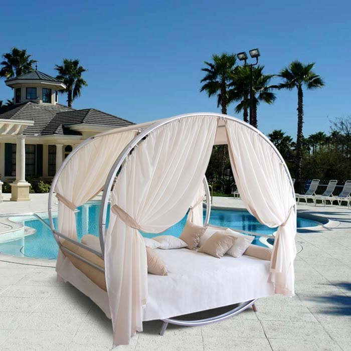 Cool bed canopy ideas for modern bedroom decor for Pool canopy bed