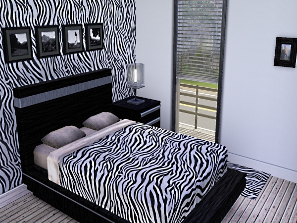 zebra print wall decor with wall papers and stickers