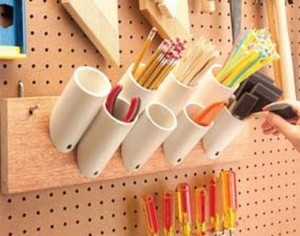 PVC pipes pencil holders
