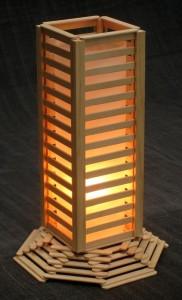 Popsicle Stick lamp Ideas