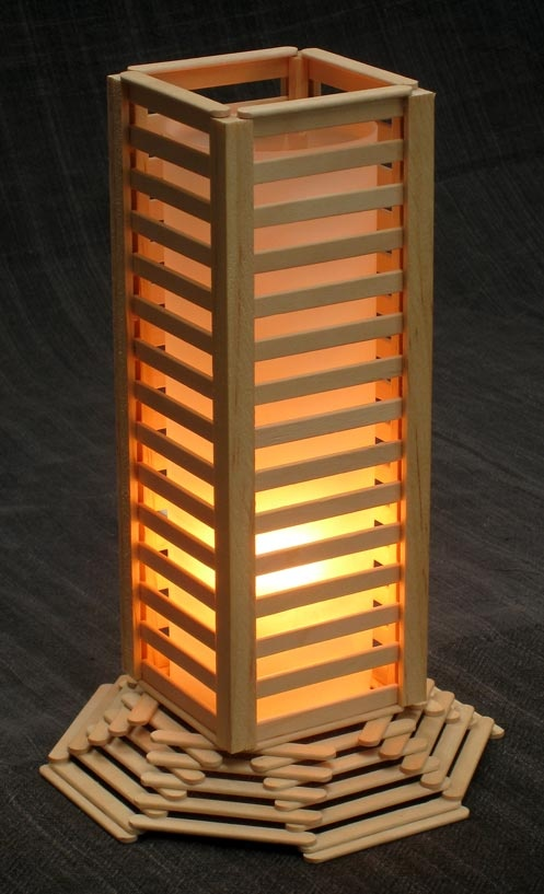 Popsicle Stick Lamp Ideas