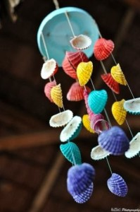 Sea shell diy wind chimes