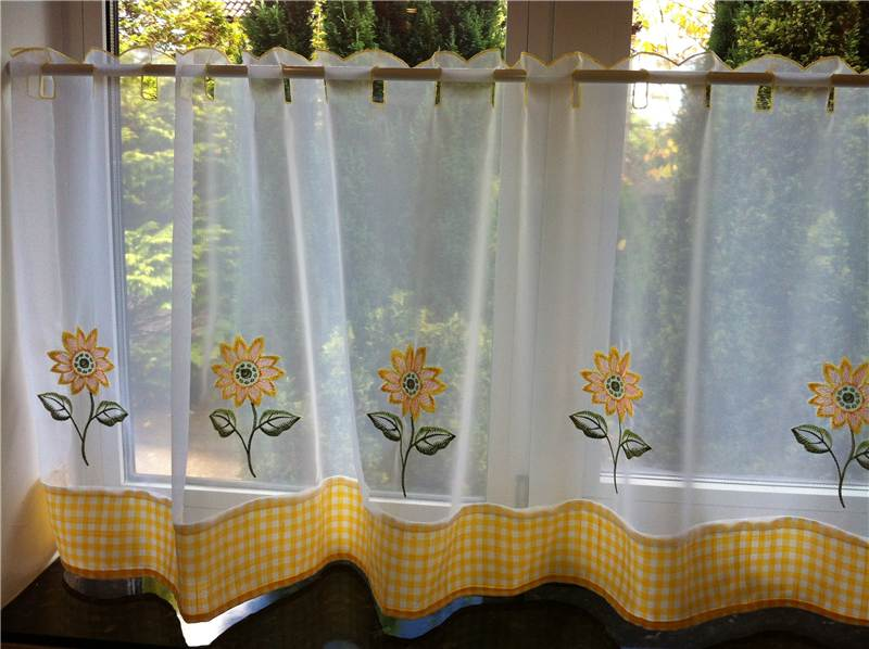 Sunflower kitchen decor ideas for modern homes for Modern kitchen curtains ideas