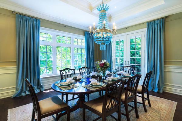 Teal Blue Dining Room