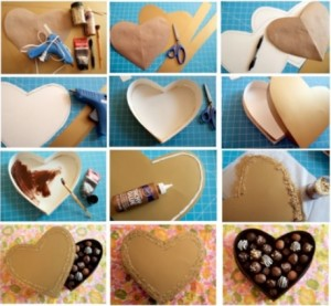 Valentines day DIY gift boxes