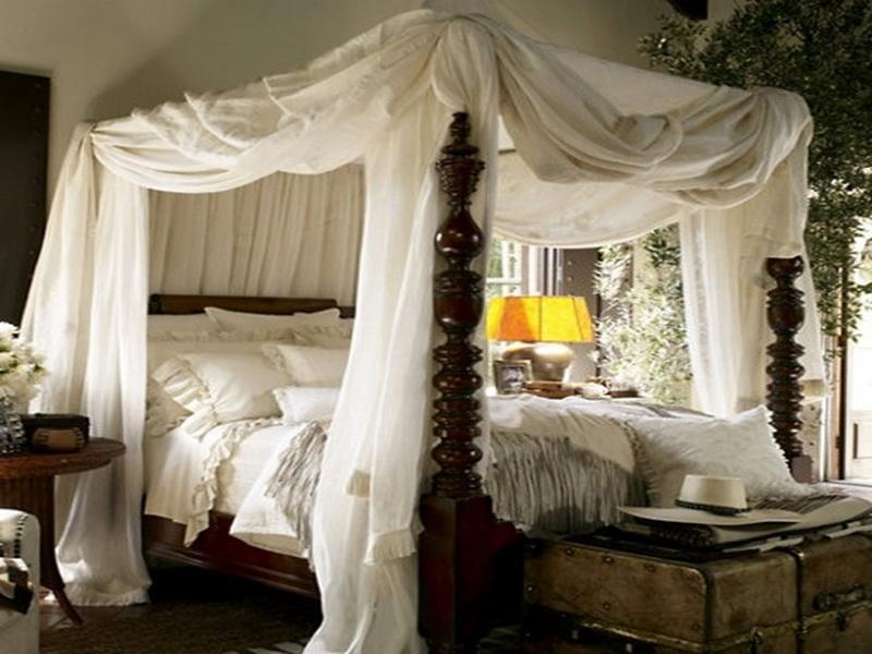 Cool bed canopy ideas for modern bedroom decor - Ideas for canopy bed curtains ...